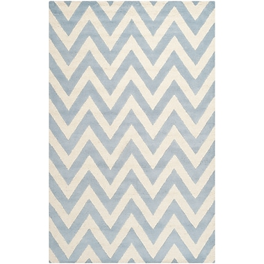 Safavieh Kimberly Cambridge Light Blue/Ivory Wool Pile Area Rugs