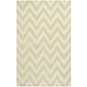 Safavieh Kimberly Cambridge Wool Pile Area Rug, Light Green/Ivory, 5' x 8'