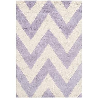 Safavieh Kimberly Cambridge Wool Pile Area Rug, Lavender/Ivory, 3' x 5'