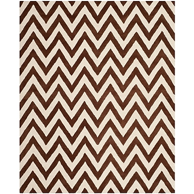 Safavieh Kimberly Cambridge Wool Pile Area Rug, Dark Brown/Ivory, 8' x 10'