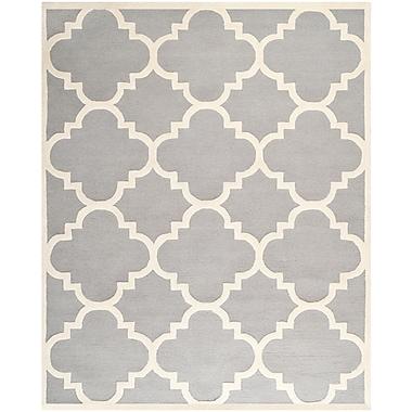 Safavieh Jasmine Cambridge Wool Pile Area Rug, Silver/Ivory, 8' x 10'