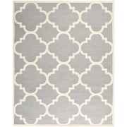 "Safavieh Cambridge Area Rug, 96"" x 120"", Silver/Ivory (CAM140D-8)"