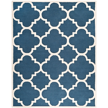 Safavieh Jasmine Cambridge Wool Pile Area Rug, Navy/Ivory, 8' x 10'
