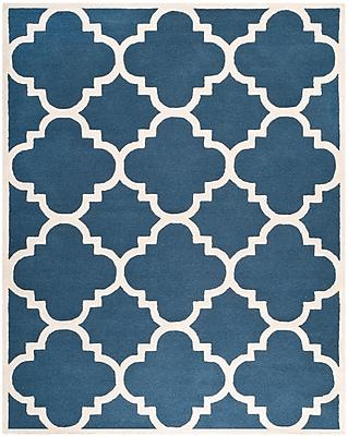 Safavieh Jasmine Cambridge Wool Pile Area Rug, Navy/Ivory, 8' x 10'