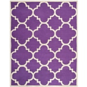 Safavieh Jasmine Cambridge Wool Pile Area Rug, Purple/Ivory, 8' x 10'