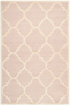 Safavieh Jasmine Cambridge Wool Pile Area Rug, Light Pink/Ivory, 6' x 9'