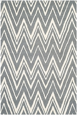 Safavieh Helen Cambridge Wool Pile Area Rug, Dark Gray/Ivory, 4' x 6'