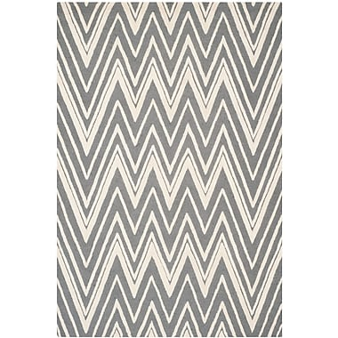 Safavieh Helen Cambridge Wool Pile Area Rug, Dark Gray/Ivory, 6' x 9'