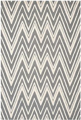 Safavieh Helen Cambridge Wool Pile Area Rug, Dark Gray/Ivory, 6' x 9'