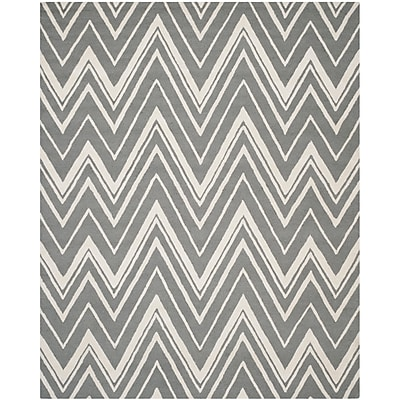 Safavieh Helen Cambridge Wool Pile Area Rug, Dark Gray/Ivory, 8' x 10'
