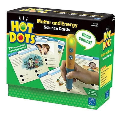 Educational Insights® Hot Dots® Matter & Energy Science Card Set, Grade 2