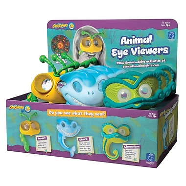 Educational Insights® GeoSafari® Jr. Animal Eye Viewers, 9/Set