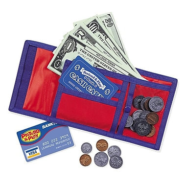 Learning Resources® Pretend & Play® Cash 'n' Carry® Wallet