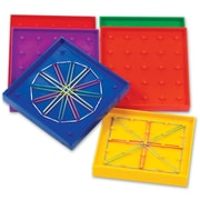 Learning Resources® Double Sided Rainbow Geoboard, 6/Set