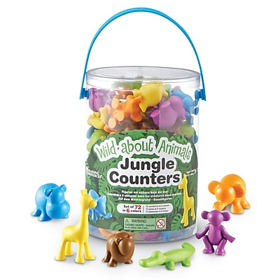 Learning Resources Wild About Animals Jungle Counters, 72/Set 1235095