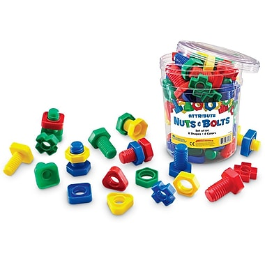 Learning Resources® Attribute Nuts and Bolts, 64/Set
