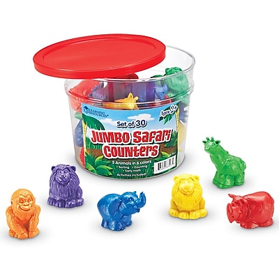 Learning Resources® Jumbo Safari Counters, 30/Set