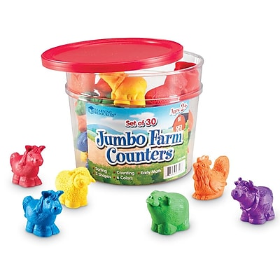 Learning Resources® Jumbo Farm Counters, 30/Set