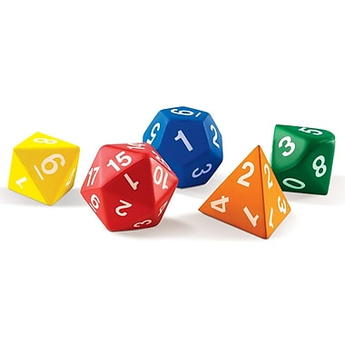 Learning Resources® Jumbo Foam Polyhedral Dice, 5/Set