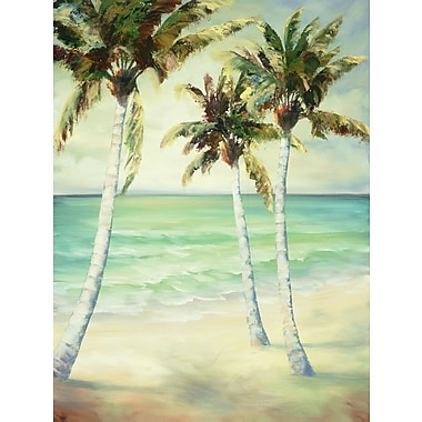 Portfolio Canvas ''Breezy Palms 6'' Painting Print on Wrapped Canvas