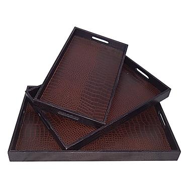 Cheungs 3 Piece Snakeskin Tray Set