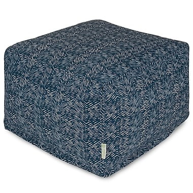 Majestic Home Goods Navajo Large Ottoman; Navy