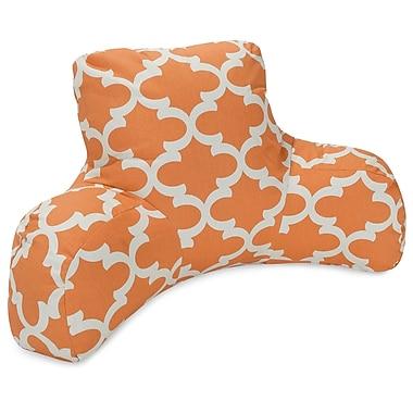 Majestic Home Goods Trellis Indoor/Outdoor Bed Rest Pillow; Peach