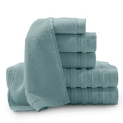 Baltic Linen Pure Elegance Turkish 6 Piece Towel Set; Smoke Blue