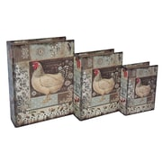 Cheungs 3 Piece Farmhouse Rooster Book Box Set