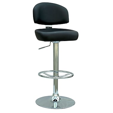 Chintaly Adjustable Height Swivel Bar Stool; Black