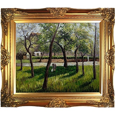 Tori Home An Enclosure in Eragny by Camille Pissarro Framed Painting