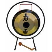 "SUZUKI HKG-22 Brass Gong with Stand 22"""
