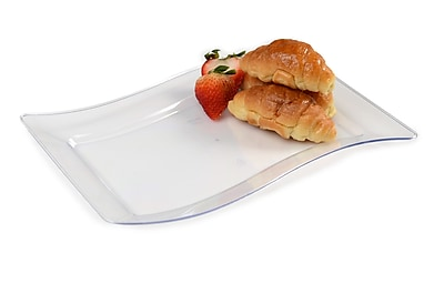 Fineline Settings Wavetrends 1407-CL Luncheon Plate, Clear