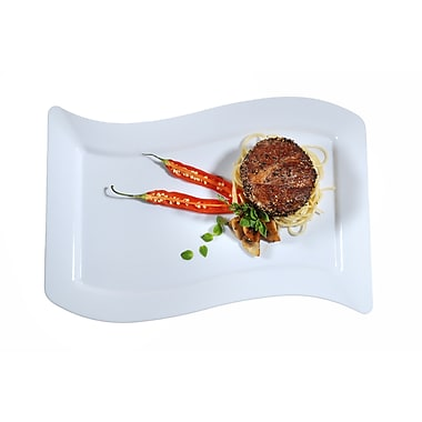Fineline Settings Wavetrends 1410-WH Dinner Plate, White