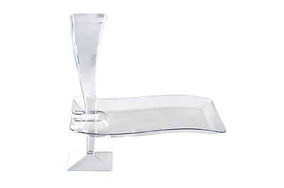 Fineline Settings Wavetrends 1409-CL Cocktail Plate, Clear