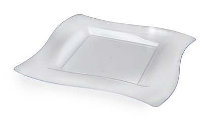 Fineline Settings Wavetrends 108-CL Salad Plate, Clear