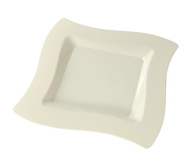 Fineline Settings Wavetrends 108-BO Salad Plate, Bone