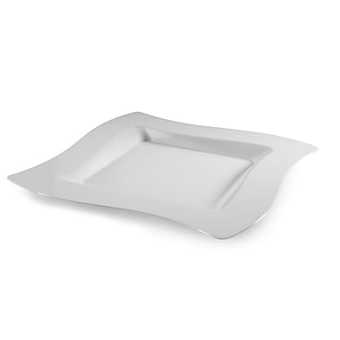 Fineline Settings Wavetrends 108-WH Salad Plate, White