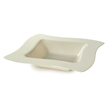 Fineline Settings Wavetrends 112-BO Square Wavey Bowl, Bone