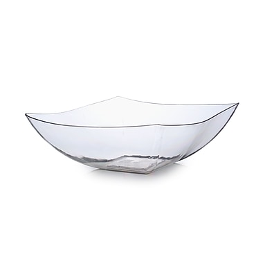 Fineline Settings Wavetrends 164-CL Serving Bowl, Clear