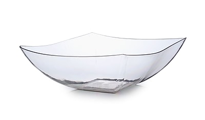 Fineline Settings Wavetrends 128-CL Serving Bowl, Clear