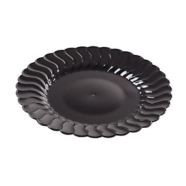 Fineline Settings Flairware 207-BK Flaired Salad Plate, Black
