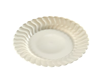 Fineline Settings Flairware 207-BO Flaired Salad Plate, Bone