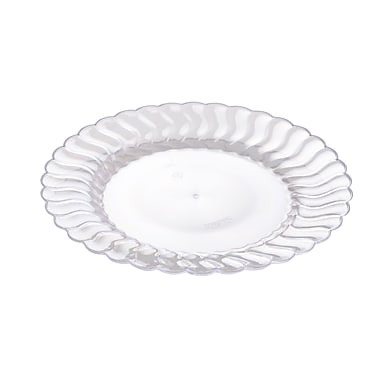 Fineline Settings Flairware 207-CL Flaired Salad Plate, Clear