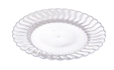 Fineline Settings Flairware 206-CL Flaired Dessert Plate, Clear