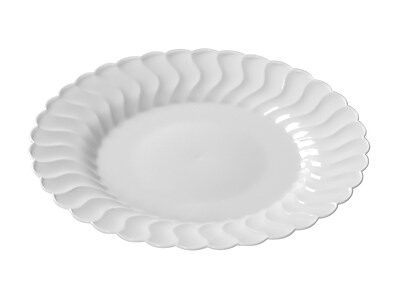 Fineline Settings Flairware 207-WH Flaired Salad Plate, White