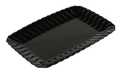 Fineline Settings Flairware 257 Snack Tray, Black