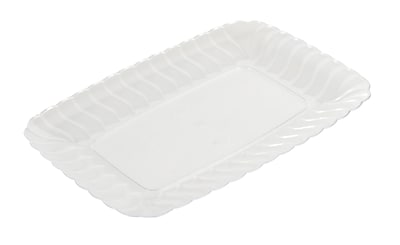 Fineline Settings Flairware 257 Snack Tray, Clear