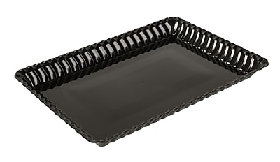 Fineline Settings Flairware 293 Serving Tray, Black