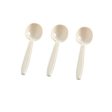 Fineline Settings Flairware 2505-BO Soup Spoons Boxed, Bone